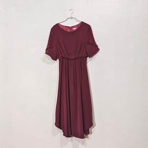 Dorry Doll 袖デザインシフォンワンピースドレス M/Freeサイズ レッド