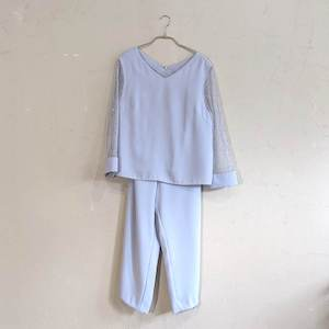 Dorry Doll レース切替パンツセットアップ M/Freeサイズ ブルー
