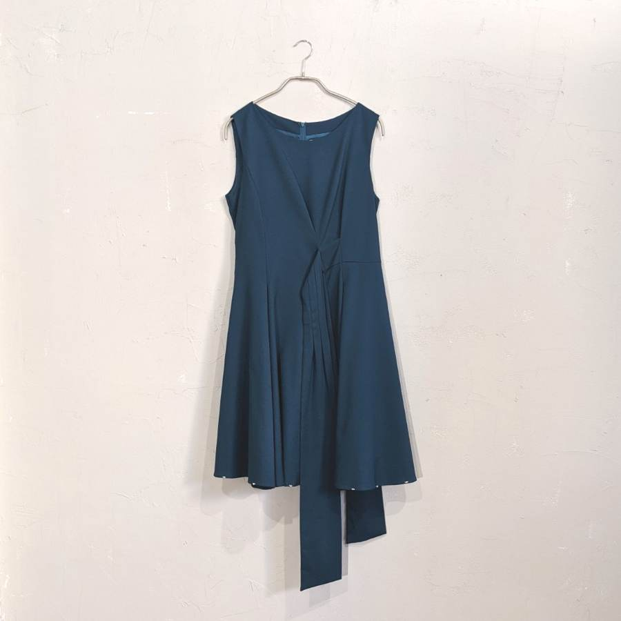 Dorry Doll リボンフレアワンピースドレス M/Freeサイズ グリーン