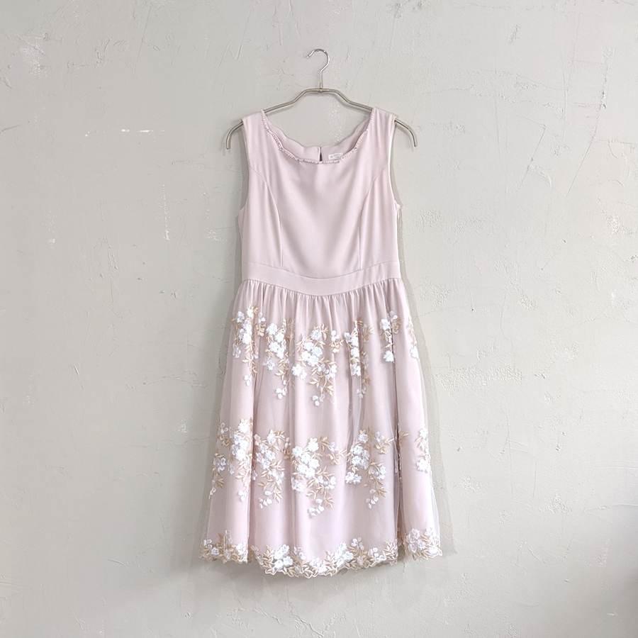 Dorry Doll フラワーシフォン切り替えワンピース M/Freeサイズ ピンク