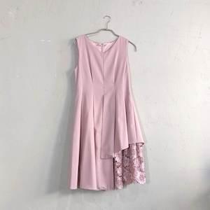 Dorry Doll ウェストタック入り花柄刺繍レース使いギャップレングス丈ワンピース M/Freeサイズ ピンク