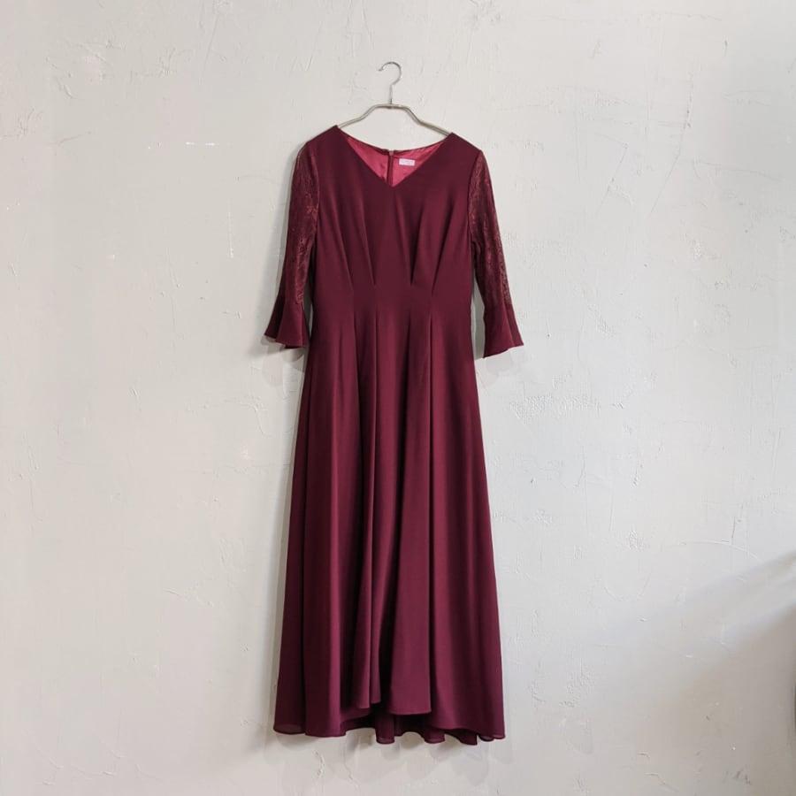 Dorry Doll ロング丈シフォンワンピースドレス M/Freeサイズ レッド