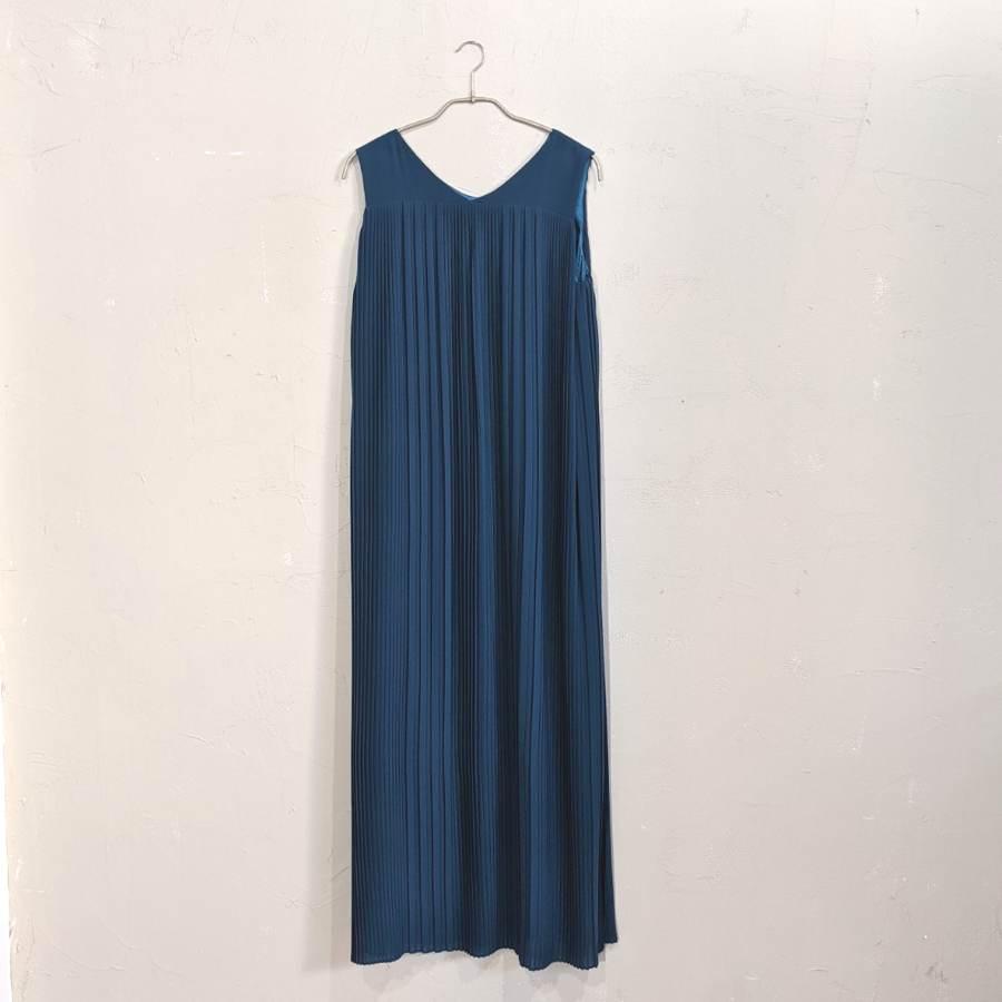 Dorry Doll 総プリーツIライワンピースドレス M/Freeサイズ グリーン