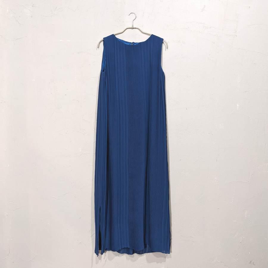 Dorry Doll 総プリーツIライワンピースドレス M/Freeサイズ ブルー