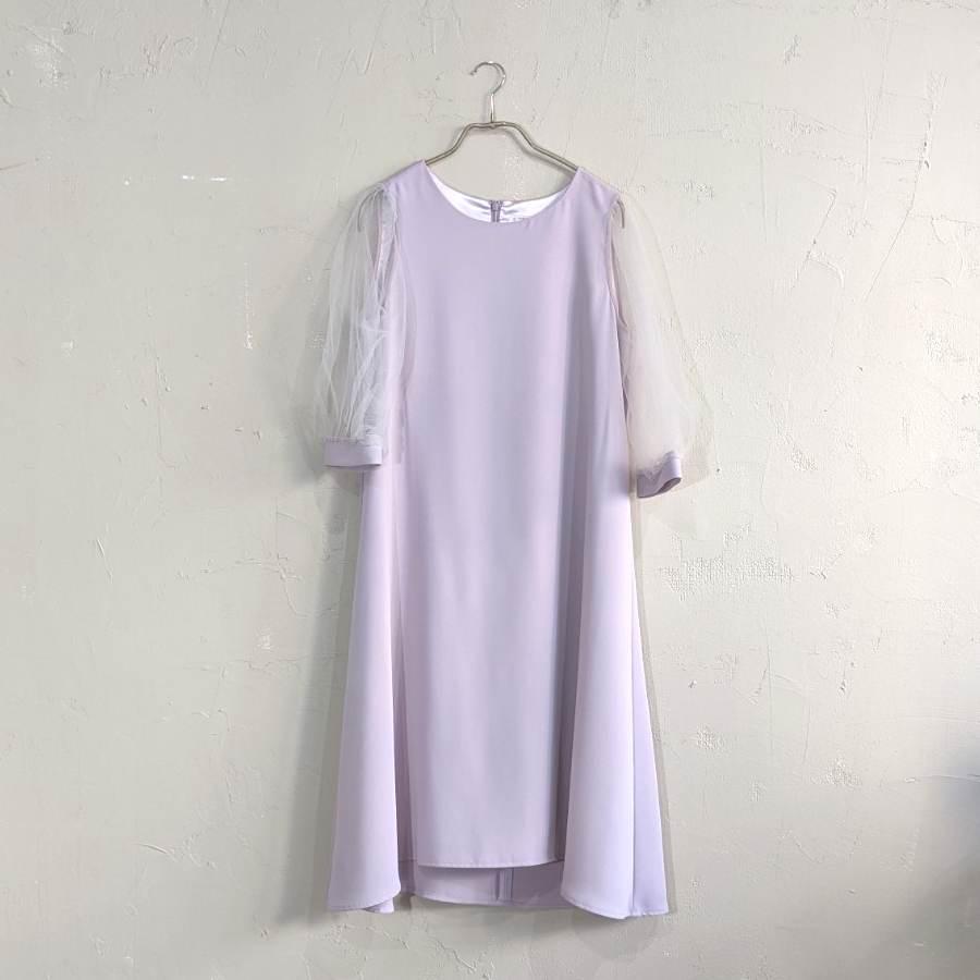 Dorry Doll オーガンジースリーブドレス M/Freeサイズ パープル