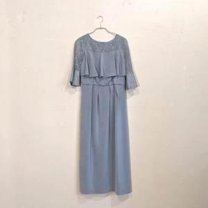 Dorry Doll デコルテシアーレース切替アイラインシルエットロングワンピースドレス M/Freeサイズ グリーン