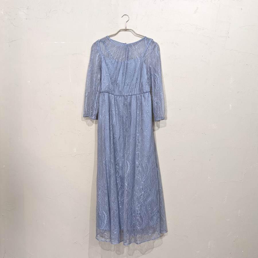 Dorry Doll 総レースシアーワンピース M/Freeサイズ ブルー