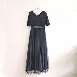 ソフトチュールロングドレス M/Freeサイズ ブラック