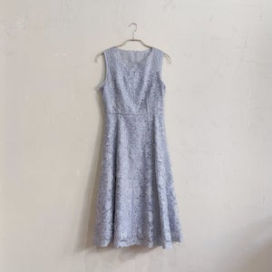 Dorry Doll 総ラメレースレースアップAラインワンピースドレス M/Freeサイズ シルバー