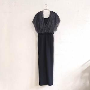 Dorry Doll レースショールデザインワイドパンツドレス M/Freeサイズ ブラック