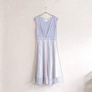 Dorry Doll レース切替サテンワンピースドレス M/Freeサイズ シルバー