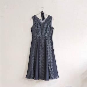 Dorry Doll 総レースシフォンラインワンピースドレス M/Freeサイズ ブラック
