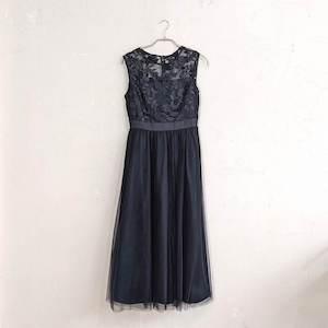 Dorry Doll エンブロイダリーチュールワンピースドレス M/Freeサイズ ブラック