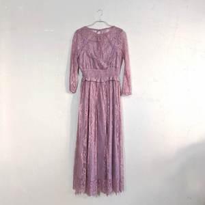 Dorry Doll 総レースウエストギャザーワンピースドレス M/Freeサイズ ピンク