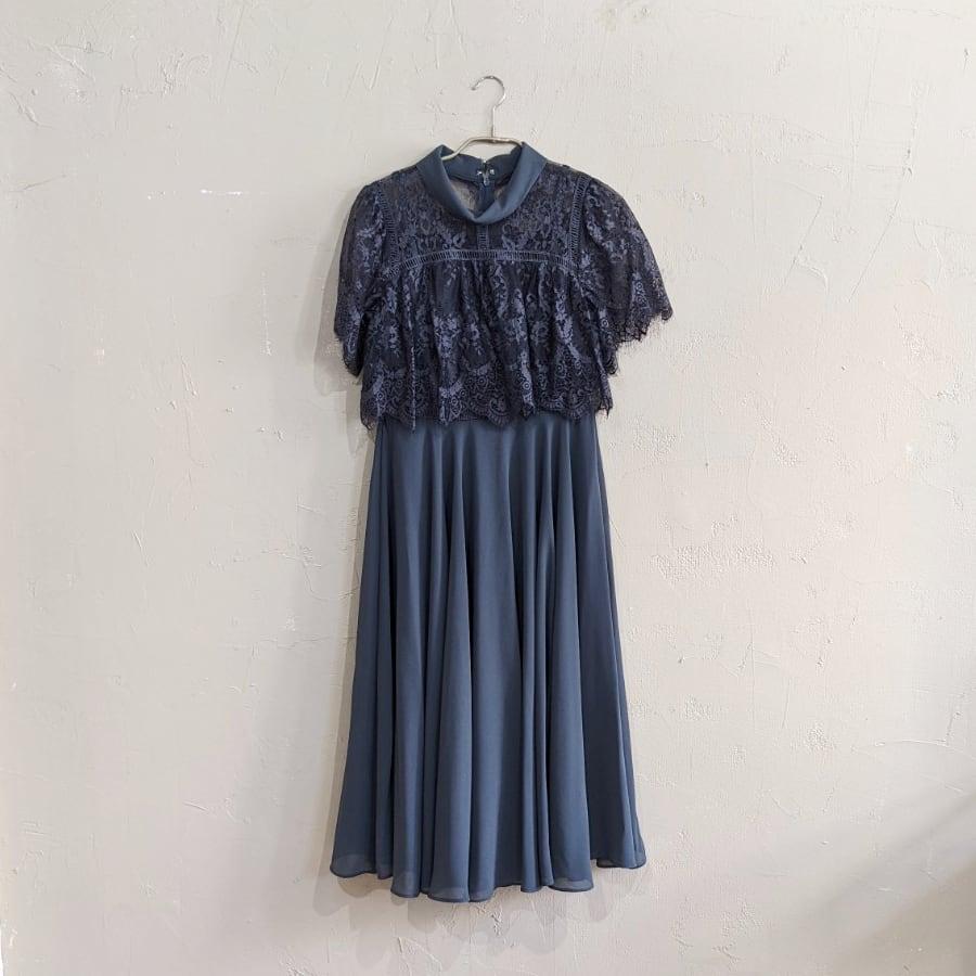 Dorry Doll オールカラーネックレースレイヤードドレス Sサイズ グリーン