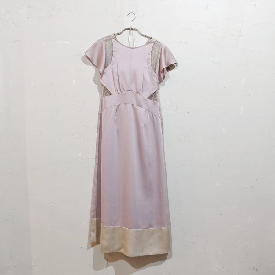 SNIDEL バックシャンレースドレス Sサイズ ピンク