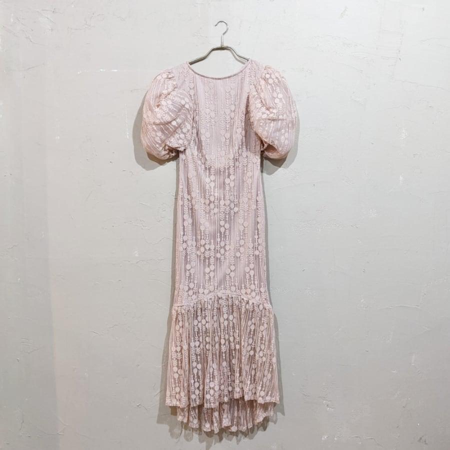 SHEIN マーメイドデザインパフスリーブドレス Sサイズ ピンク