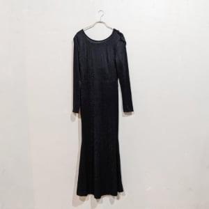 SHEIN バッククロスオープンマーメイドラインドレス Sサイズ ブラック