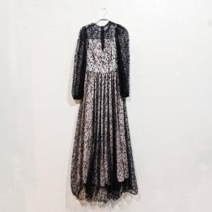 SHEIN ビショップスリーブデザイン総シアードレス Sサイズ ブラック