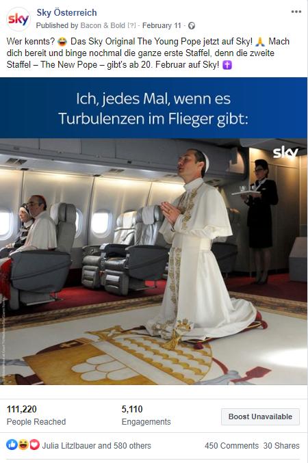Meme von The New Pope