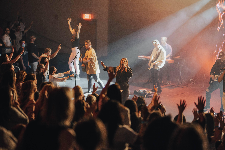 A worship service at an Omaha church