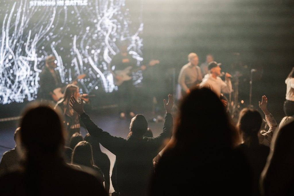 Live worship service