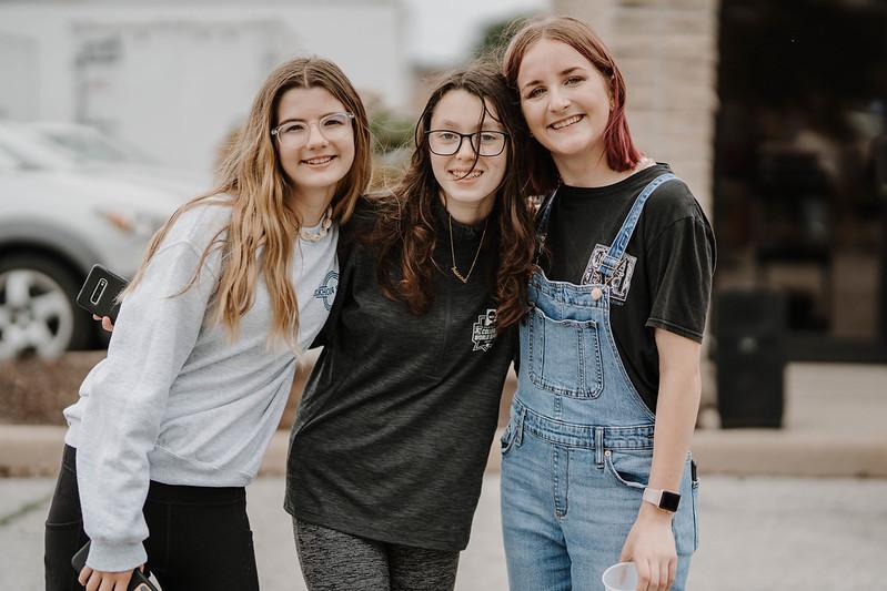 youth students smiling at camera at church in omaha nebraska
