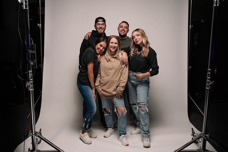 young christians posing for photoshoot