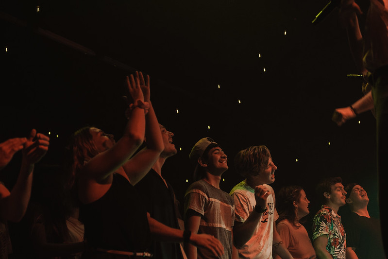 youth students encountering jesus at youth night in omaha nebraska