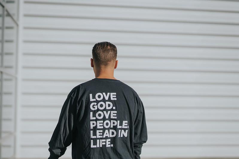 man outside of church in omaha nebraska