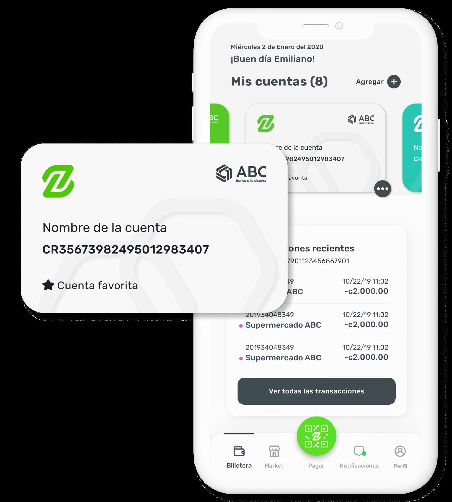 imagen de la billetera en la aplicación