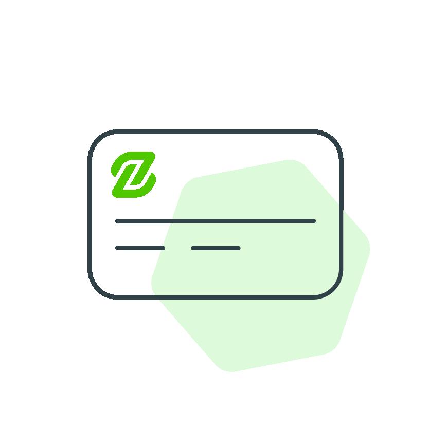 dibujo de una de un producto de pago zunify
