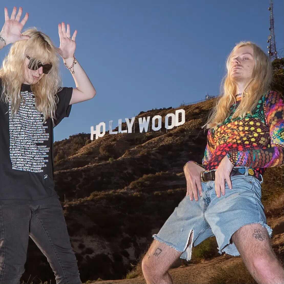 Dylan Brady Laura Les 100 Gecs Hollywood sign hyperpop
