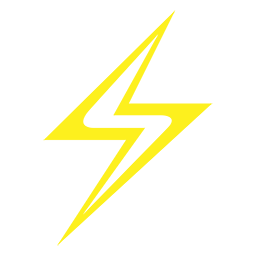 sheesh media logo yellow lightening bolt