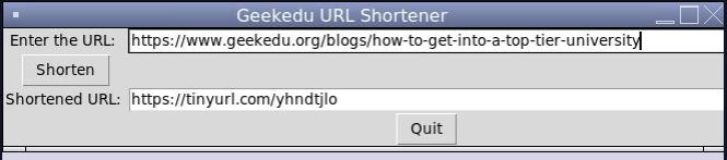 python project for kids Python URL Shortener