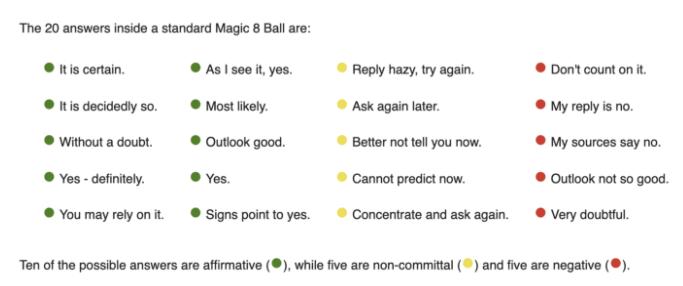 Python Magic 8 Ball