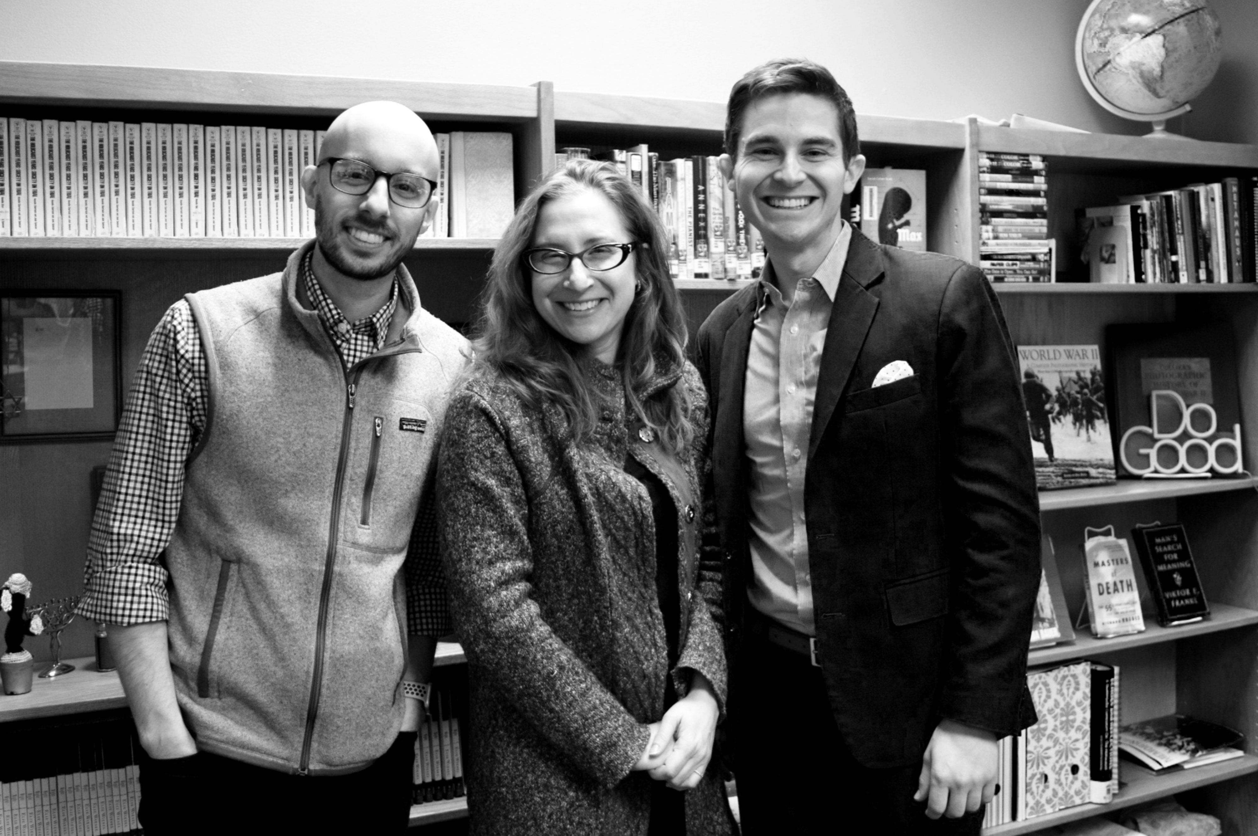 From left to right: LIGHT Founder Nick Haberman, Lauren Bairnsfather, and David Estrin.