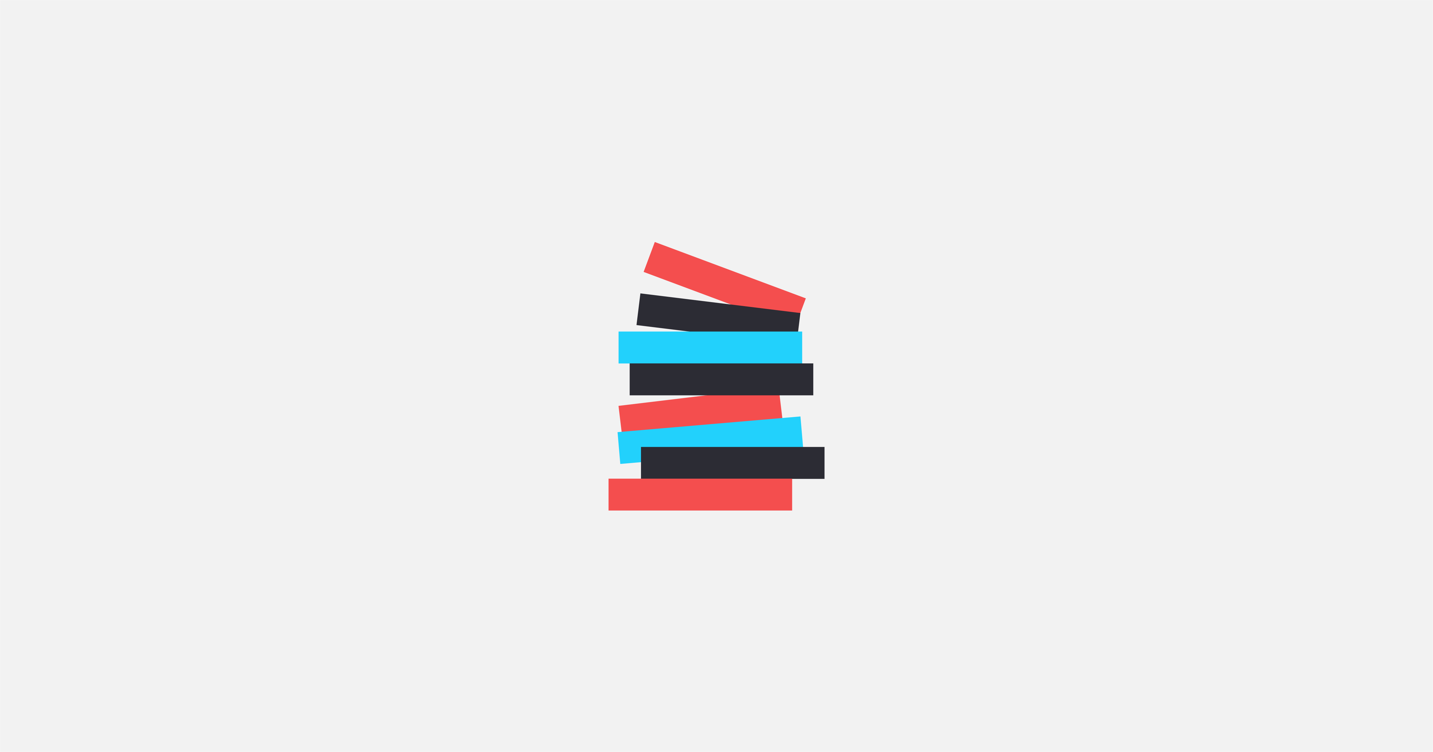 A graphic of stacked books