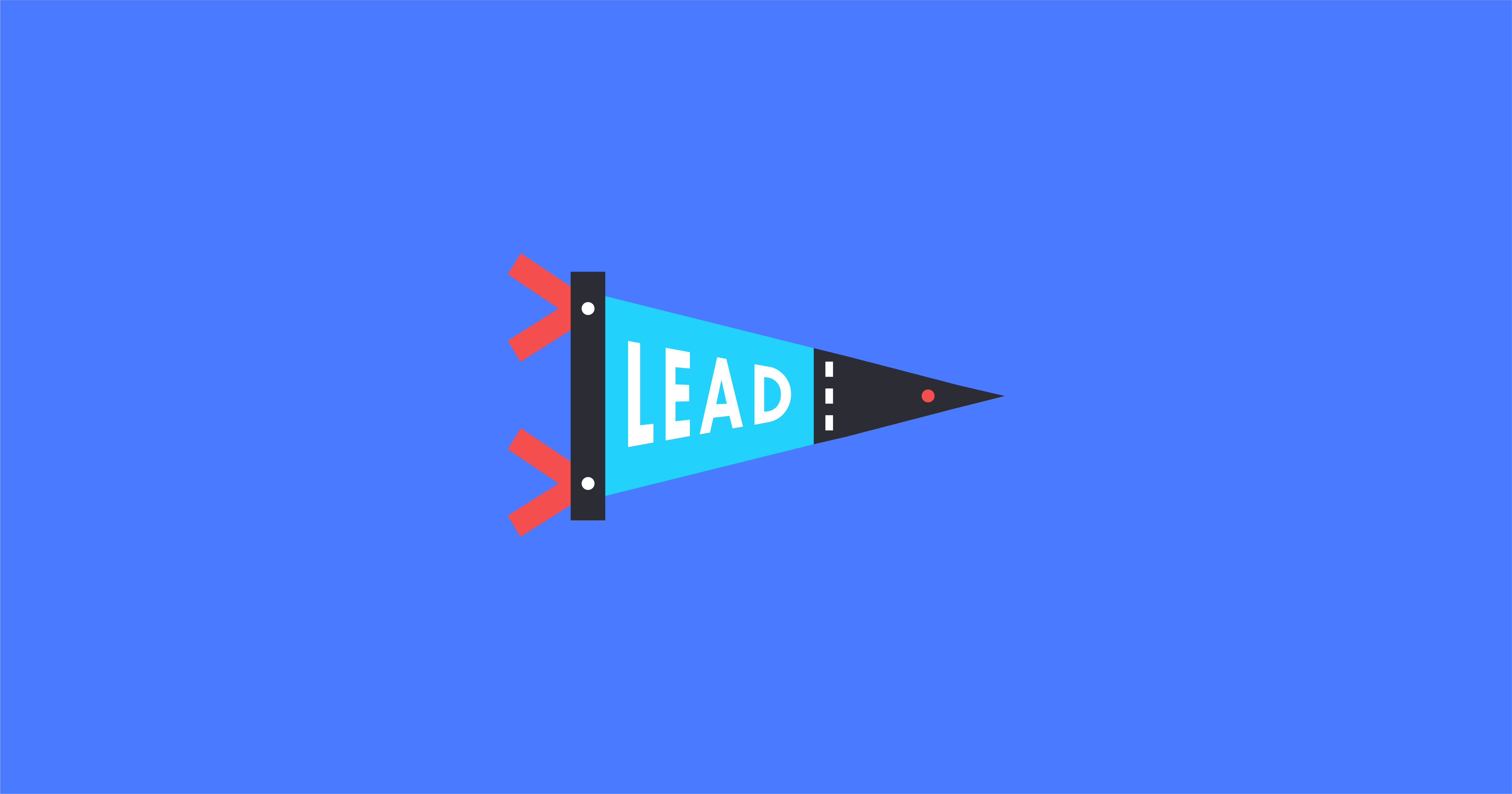 A graphic of a pennant that reads lead