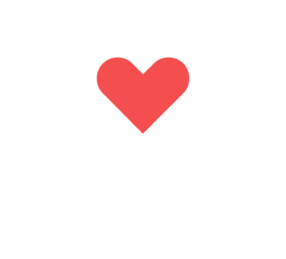 A graphic of a speech bubble with a heart in it