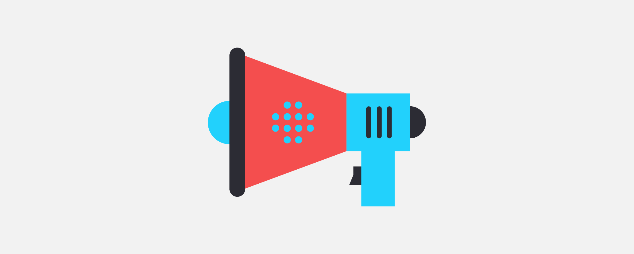 A graphic of a megaphone