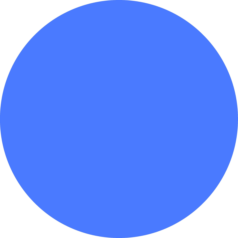 A royal blue circle