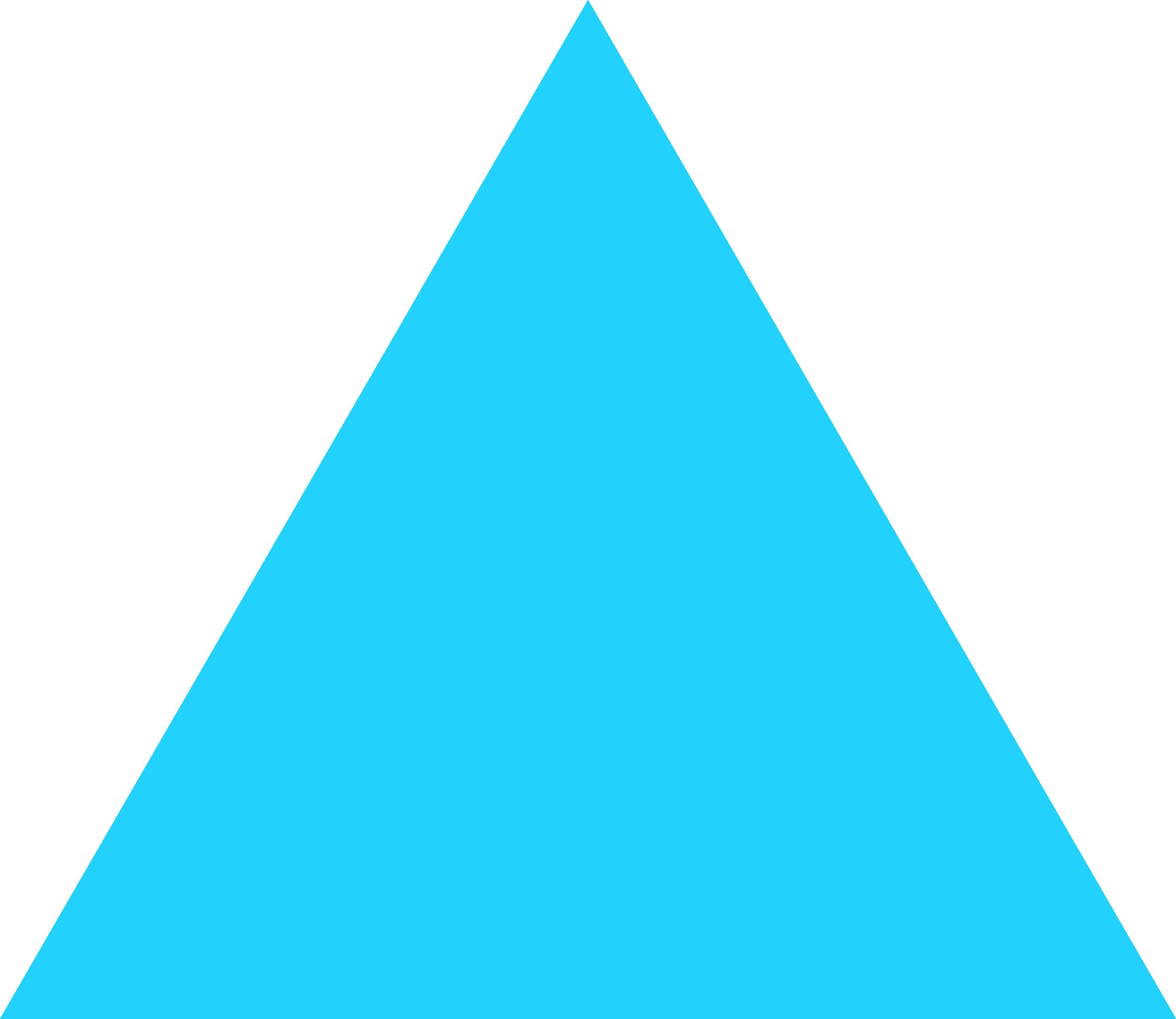 A blue triangle