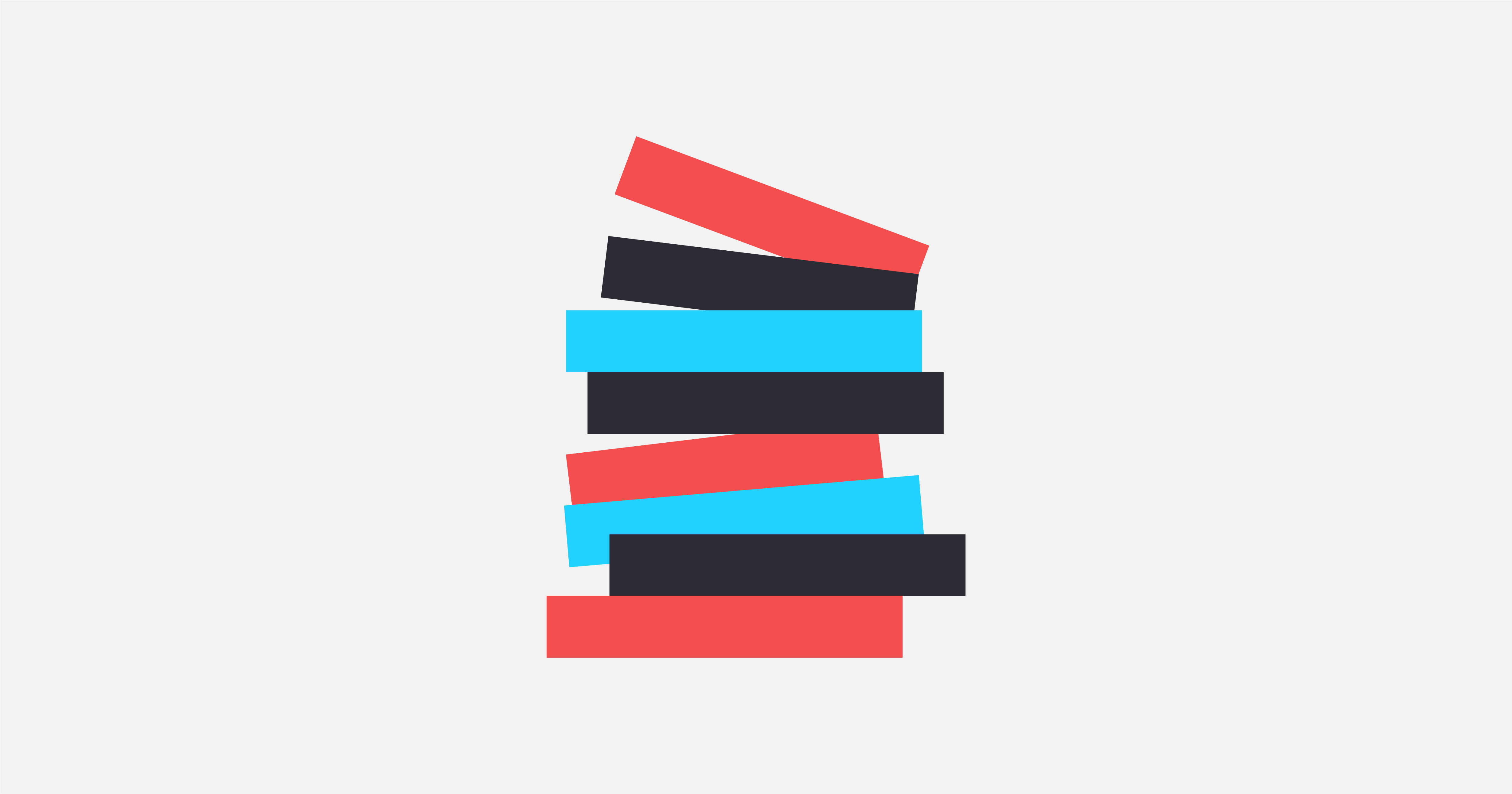 A graphic of a stack of books