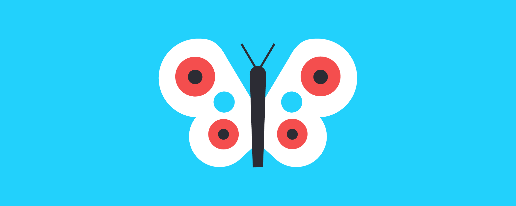 A graphic of a butterfly