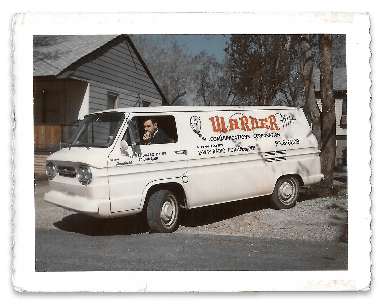 Our fancy, new (to us) service van with our very own Les Zucker behind the wheel circa 1966.