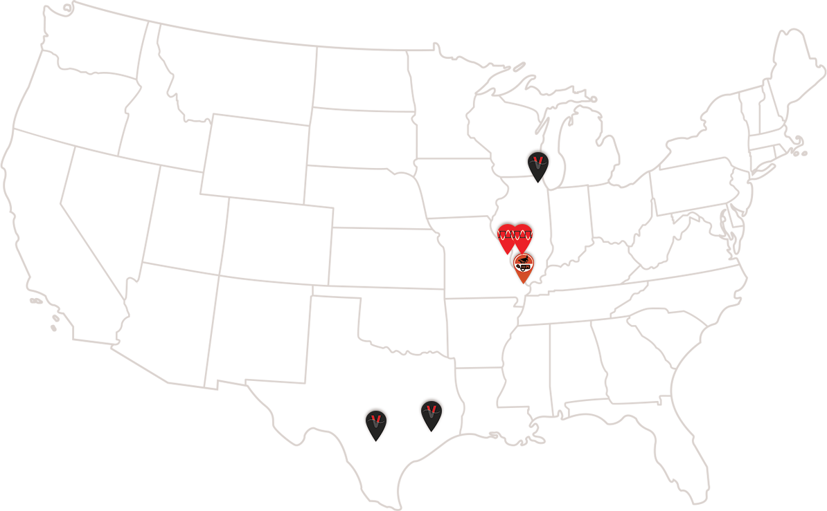 A map of our locations