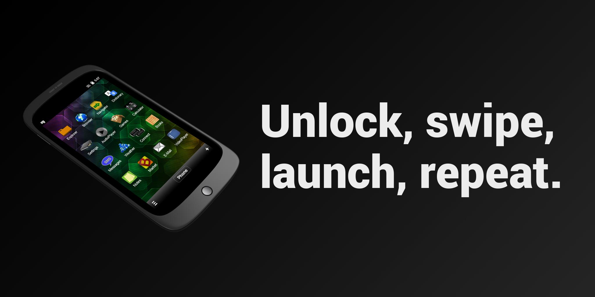 Smartphone: Unlock, swipe, launch, repeat.