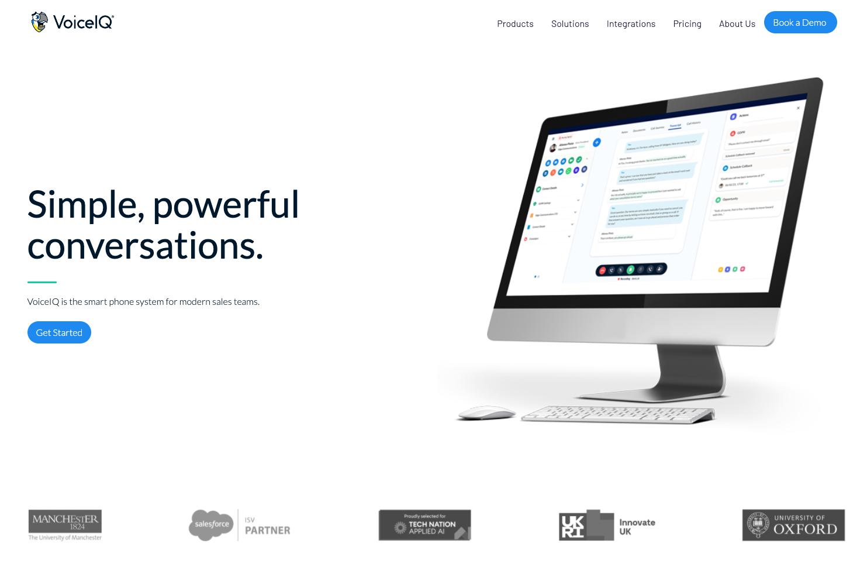 VoiceIQ homepage