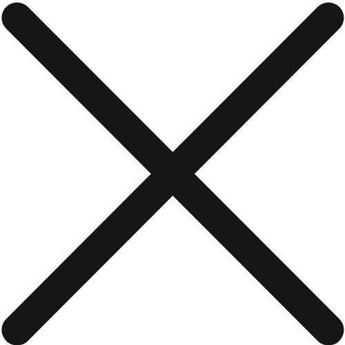 Black 'X' symbol.